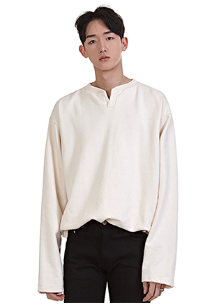 Split Neck Solid Tone Pullover