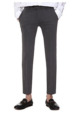 Buttoned Tab Ankle Grazer Trousers