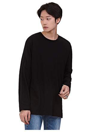 Solid Tone Round Neck Long Sleeve T-Shirt