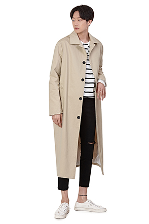 Calf-Length Four-Button Coat