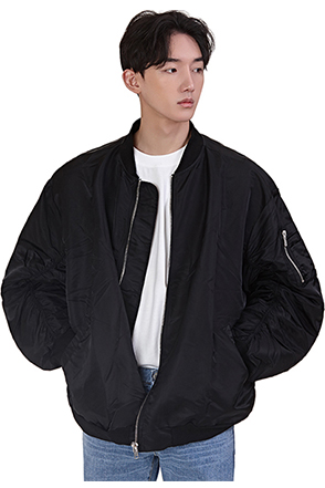 Ruched Accent Bomber Jacket