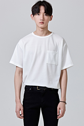 Basic Patch Chest Pocket T-Shirt