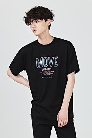 MOVE Lettering Print T-Shirt