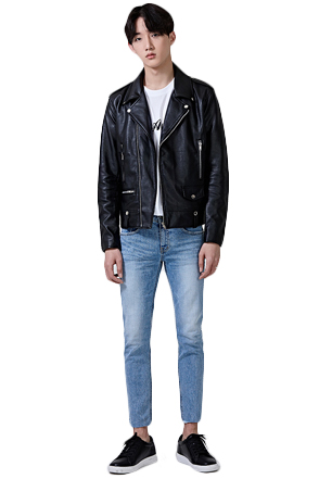 Classic Artificial Leather Jacket