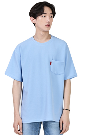 Chest Pocket Solid Tone T-Shirt