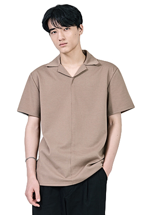 Half Sleeve Convertible Collar Shirt