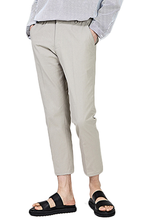 Cropped Solid Tone Trousers