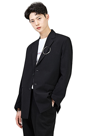 Hoop Accent Lapel Jacket