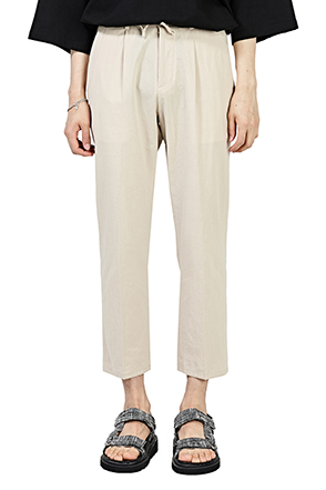 Drawstring Waist Cropped Trousers