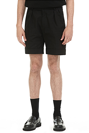 Pleated Folded Hem Shorts