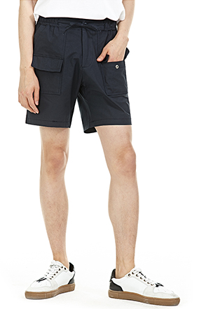 Flap Pocket Drawstring Waist Shorts