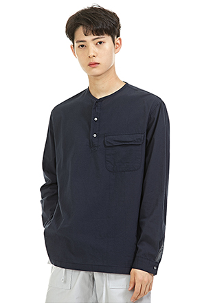 Flap Pocket Henley Shirt