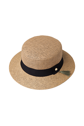 Wide Band Boater Hat