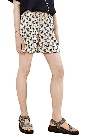 Palm Tree Silhouette Print Shorts