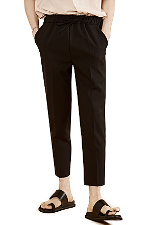 Tapered Leg Drawstring Waist Trousers