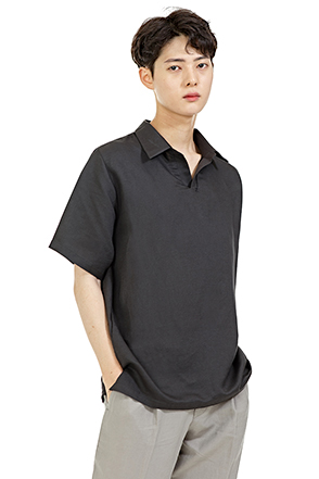 Standard Open Collar Half Sleeve Shirt
