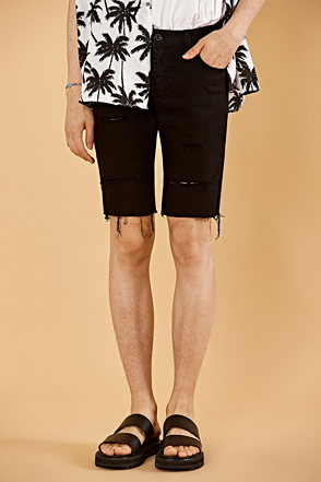 Ripped Slim Fit Shorts