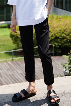 Button Accent Trousers