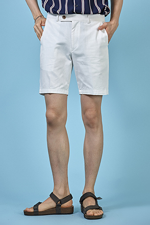 Semi-Elasticized Straight Cut Shorts