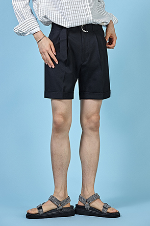 D-Ring Belt Trouser Shorts
