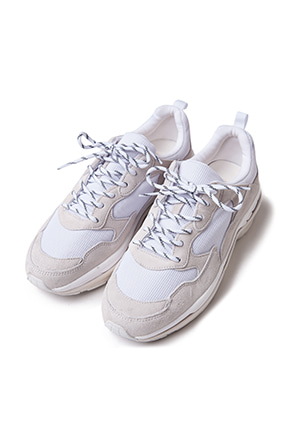 Synthetic Leather Panel Sneakers