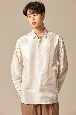 Classic Striped Chest Pocket Shirt