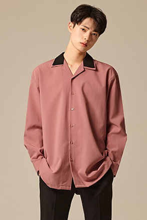 Layered Collar Button-Down Shirt