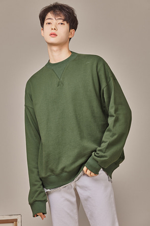 Crew Neck Drop Shoulder Sweatshirt