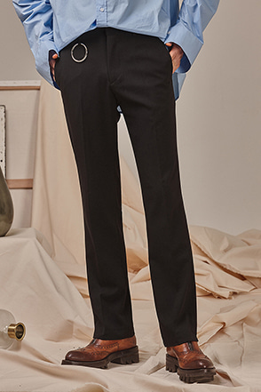 Hoop Accent Straight Leg Slacks