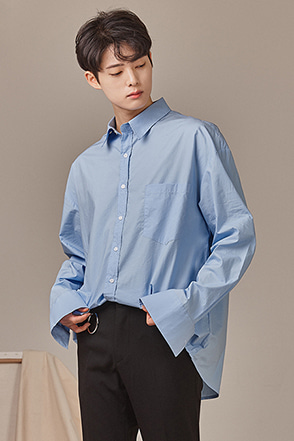 Loose Fit Chest Pocket Button-Up Shirt