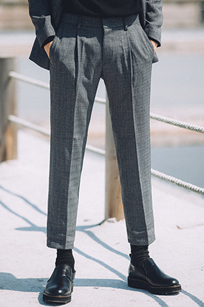 Standard Pleated Ankle Grazer Trousers