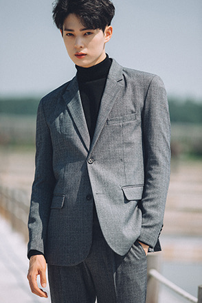 Two-Button Narrow Lapel Jacket