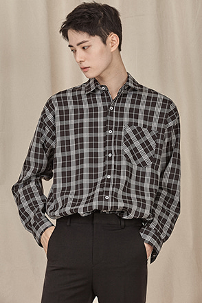Standard Check Button-Up Shirt