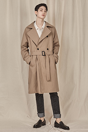 Classic Buckled Belt Coat