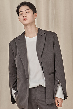 Peak Lapel One-Button Jacket