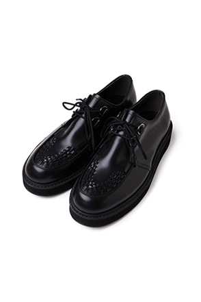 Woven Toe Accent Derby Shoes