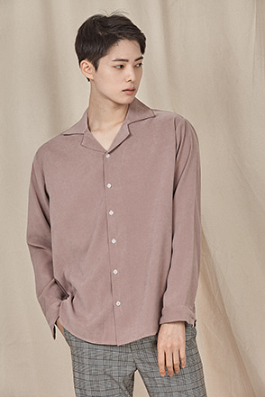 Basic Convertible Collar Shirt