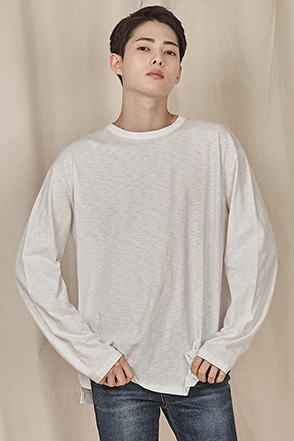 Basic Heathered Long Sleeve T-Shirt