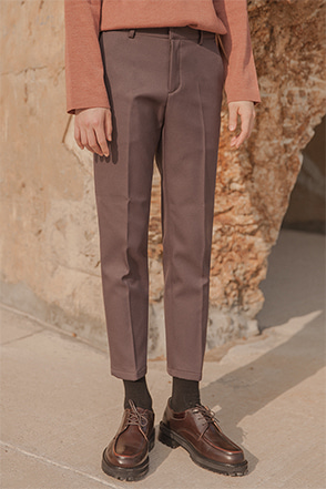 Front Crease Tapered Leg Trousers