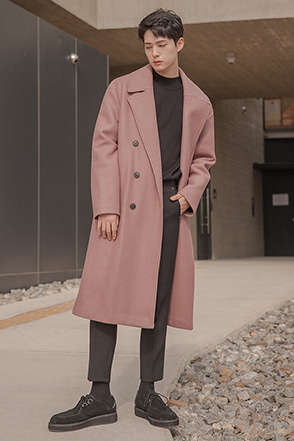 Loose Double-Breasted Lapel Coat