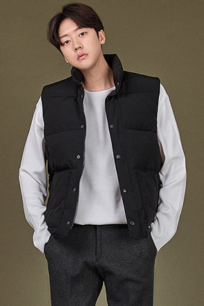 High Collar Zip-and-Snap Vest