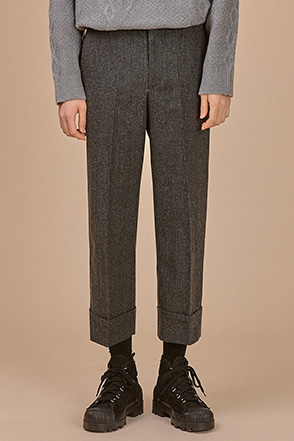 Folded Hem Check Slacks