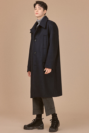 Solid Tone Three-Button Coat