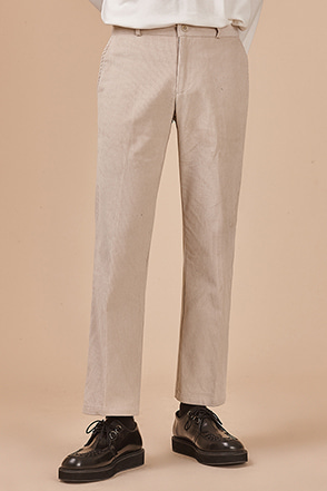 Straight Leg Ribbed Pants