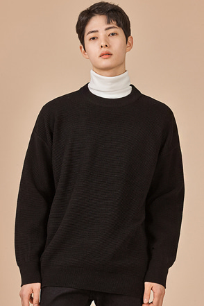 Drop Shoulder Crew Neck Pullover