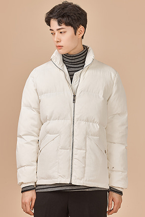 High Collar Padded Zip-Up Jacket