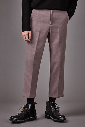 Cropped Wool Blend Slacks