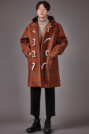 Check Pattern Toggle Coat