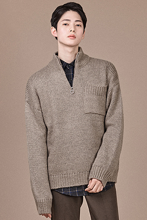 Zip Mock Neck Pullover