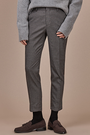 Ankle Grazer Check Pants